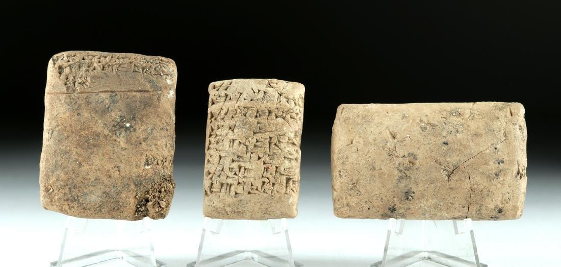 Lot of 3 Fine Mesopotamian Clay Cuneiform Tablets - 3