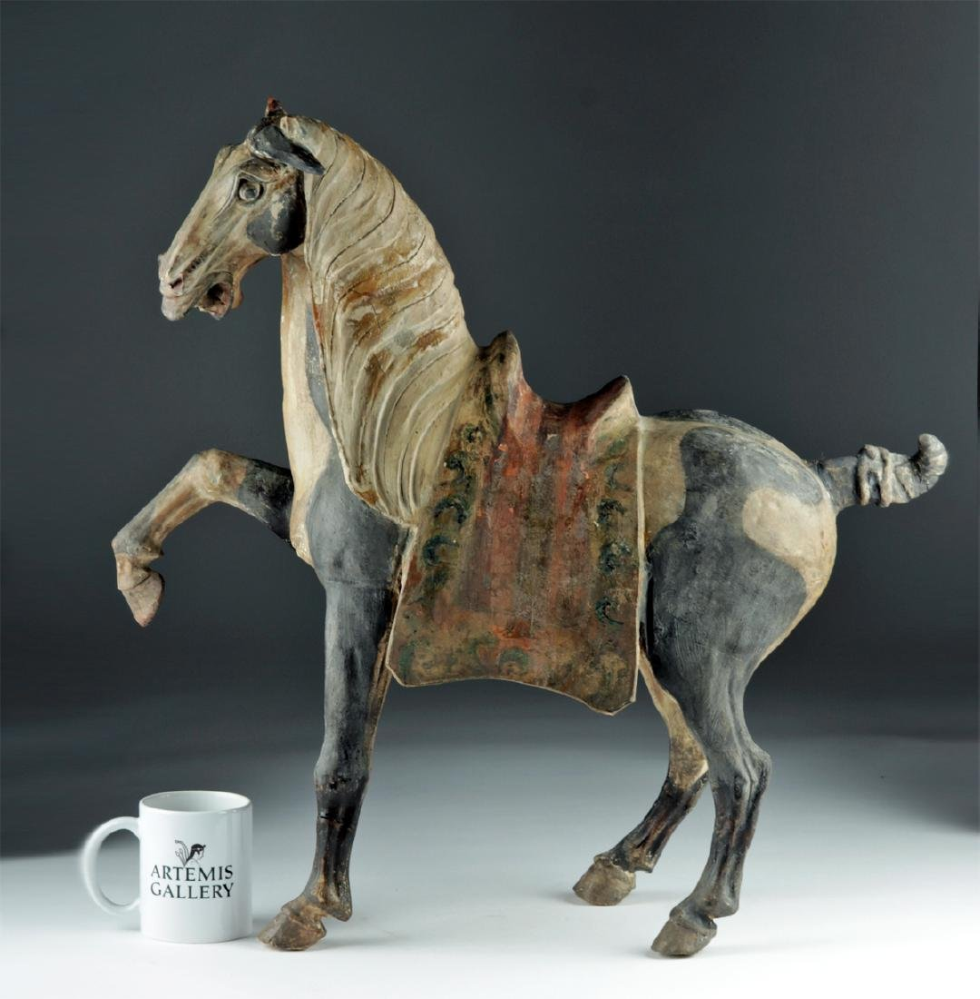 Chinese Tang Dyn Pottery Horse w/ TL, ex-Sotheby's - 2