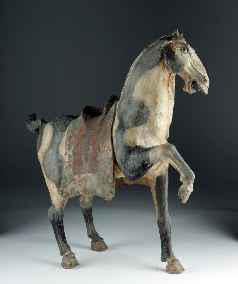 Chinese Tang Dyn Pottery Horse w/ TL, ex-Sotheby's - 5