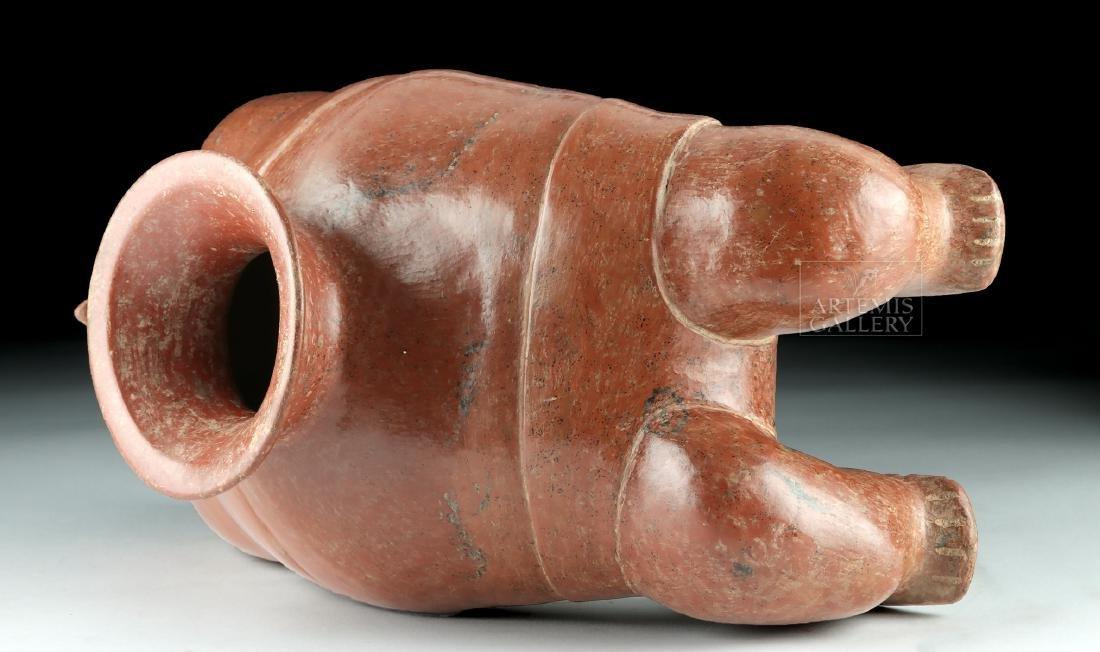 Superb Colima Redware Pottery Acrobat Vessel - 5