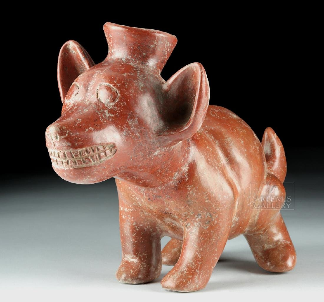 Adorable Colima Redware Dog Vessel - Gnashing Teeth
