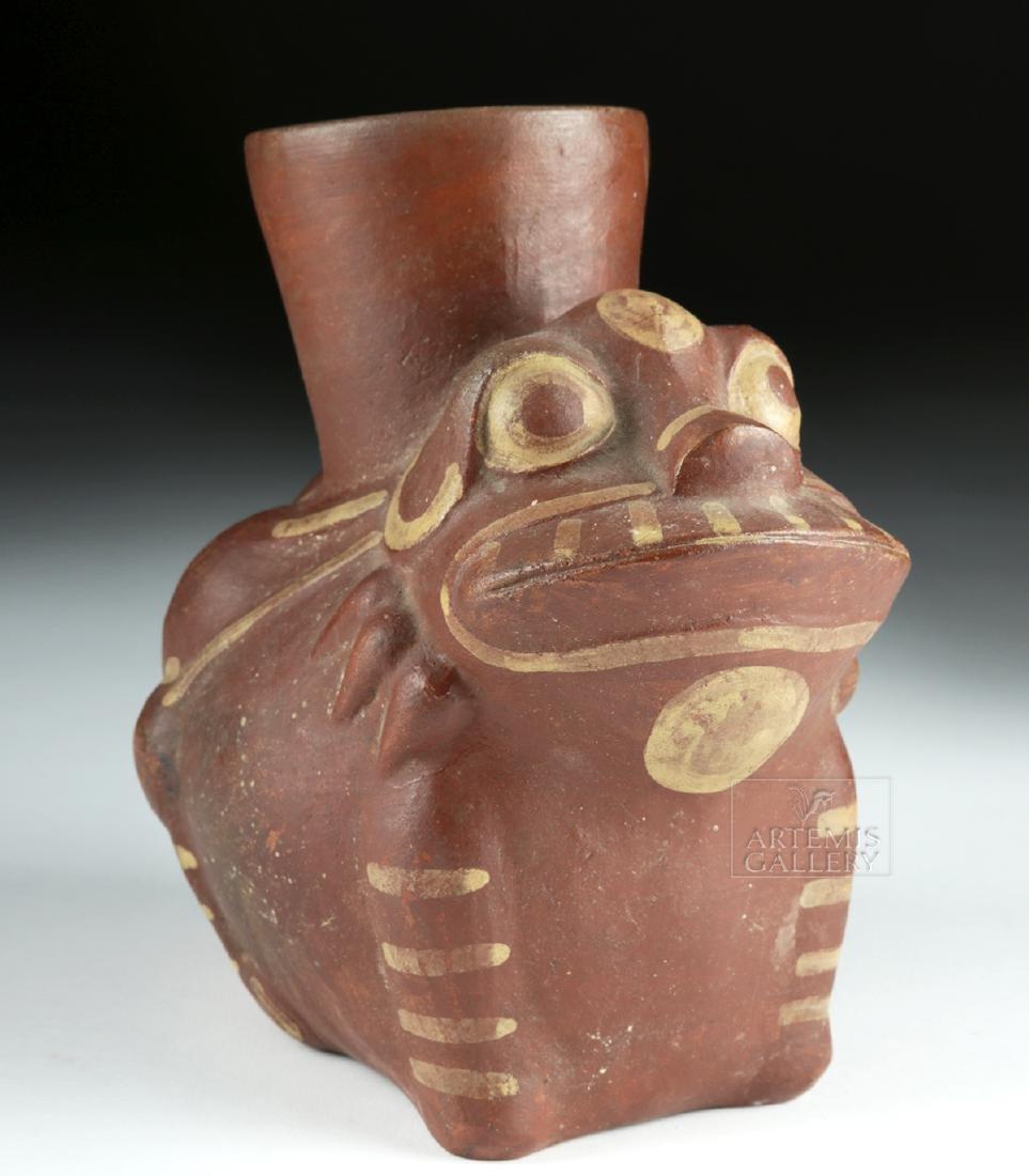 Moche Bi-chrome Pottery Frog Vessel - 2