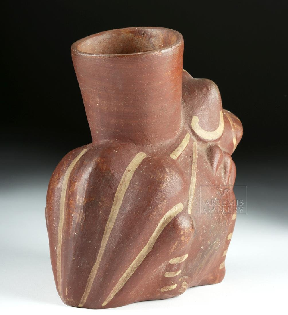 Moche Bi-chrome Pottery Frog Vessel - 4