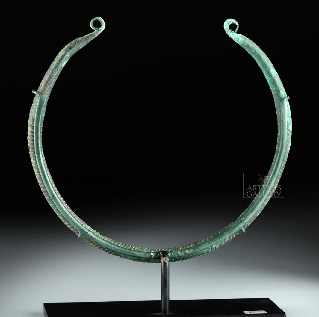 Greek Thracian Bronze Neck Torc - 4