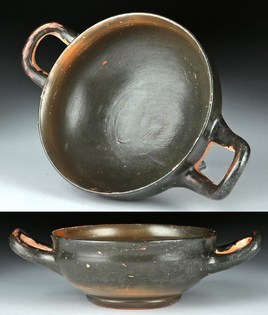 Greek Campanian Pottery Kylix w/ Maker's Initials