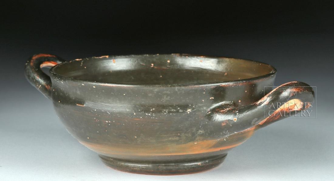 Greek Campanian Pottery Kylix w/ Maker's Initials - 3