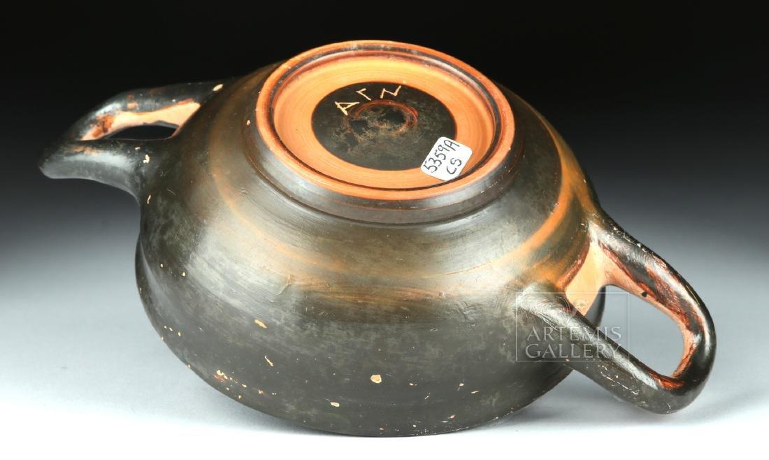 Greek Campanian Pottery Kylix w/ Maker's Initials - 5