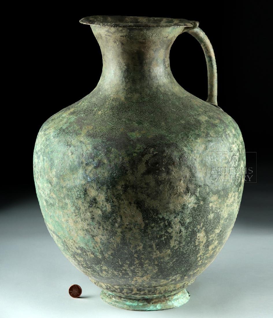 Large / Impressive Greek Hellenistic Bronze Ewer