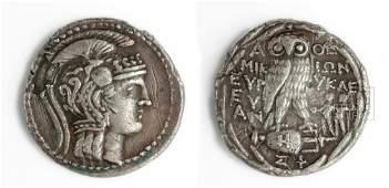 Attic Athena Silver Tetradrachm  New Style  169 g