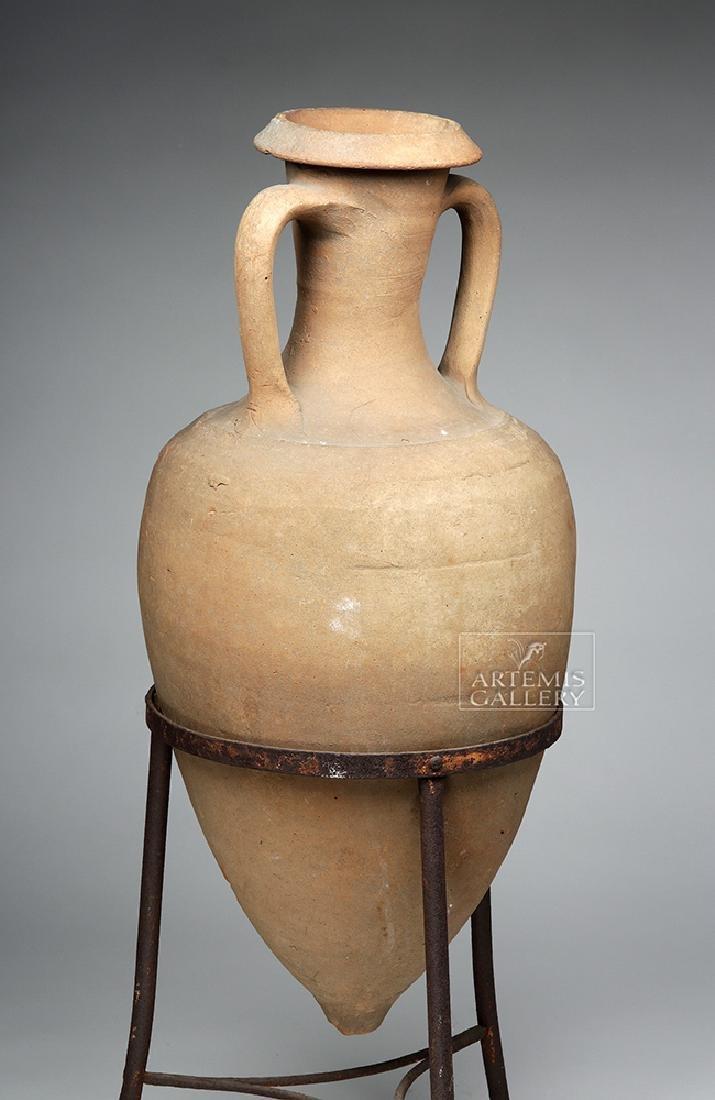 Roman Pottery Transport Amphora - Large & Complete - 3