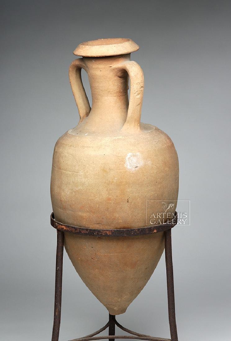 Roman Pottery Transport Amphora - Large & Complete - 4