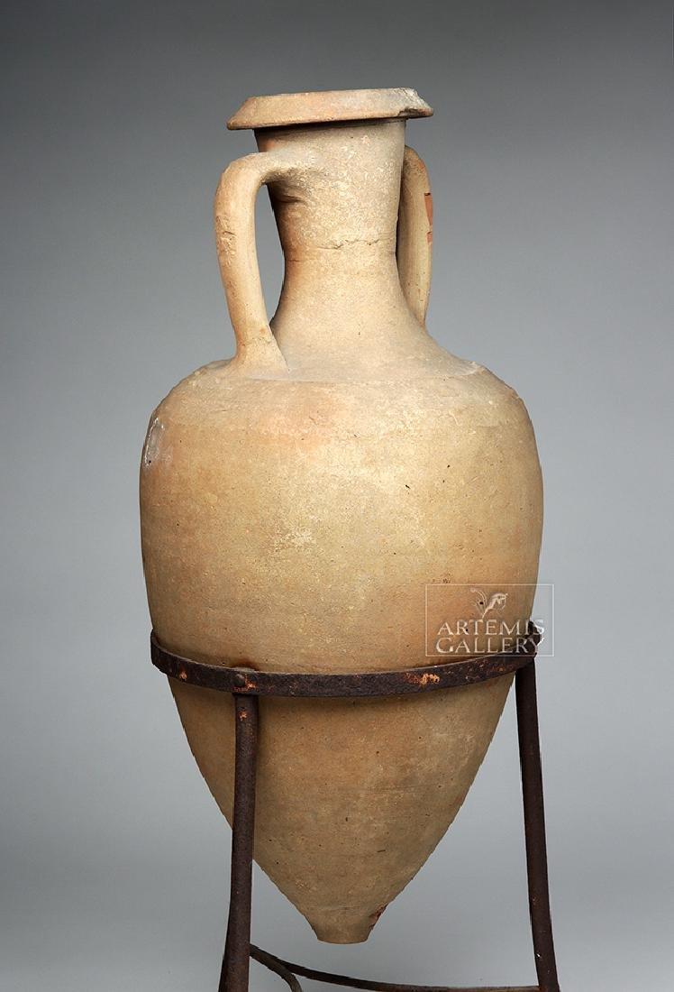 Roman Pottery Transport Amphora - Large & Complete - 5