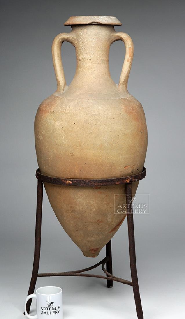 Roman Pottery Transport Amphora - Large & Complete - 6