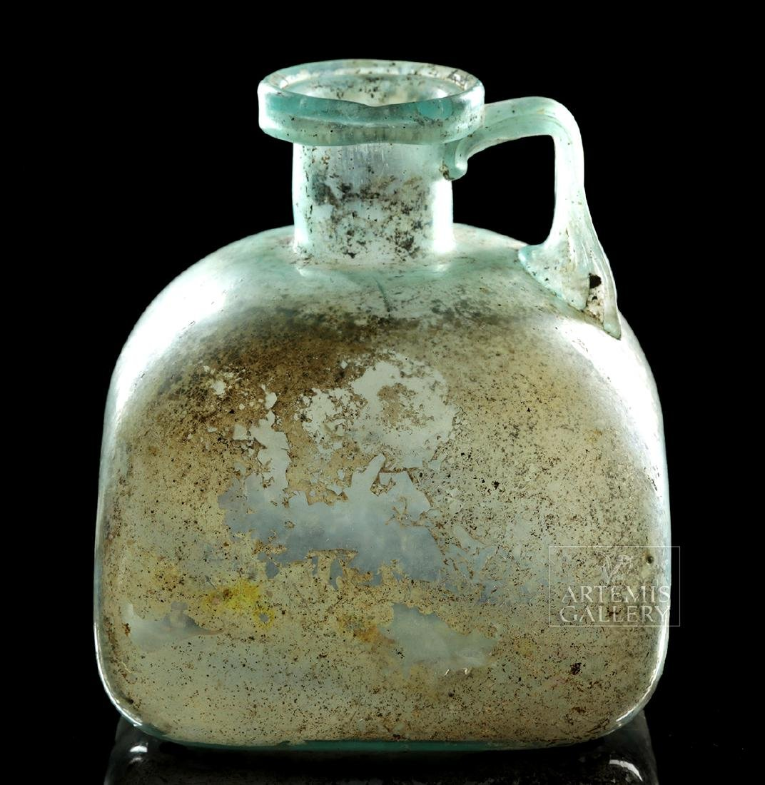 Roman Glass Bottle - Squat Form