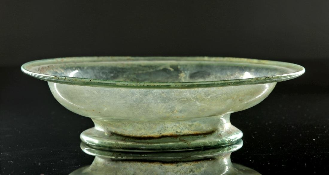 Stunning / Large Roman Glass Footed Bowl