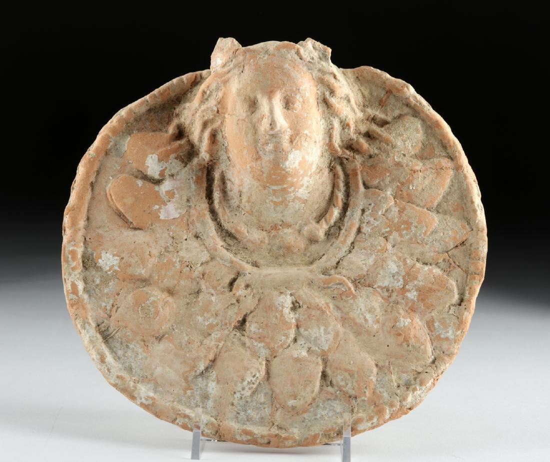 Greek Terracotta Relief w/ Goddess