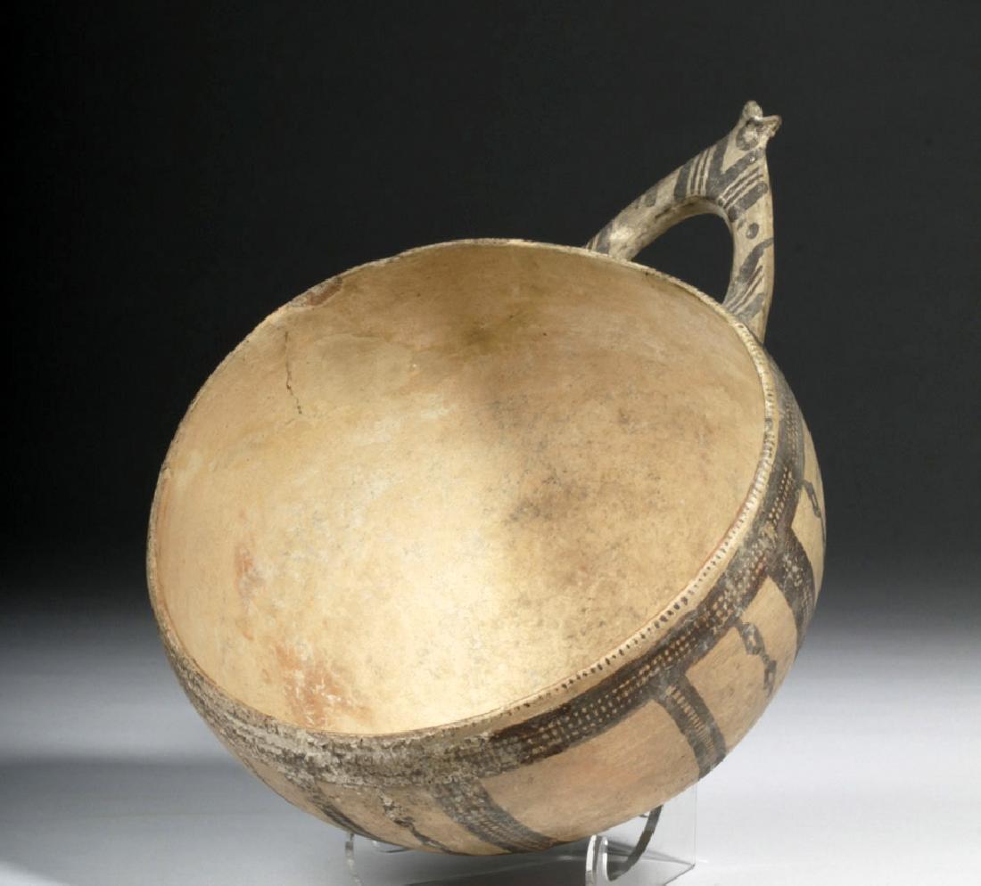 Greek Cypriot Black-on-White Milk Bowl - 2