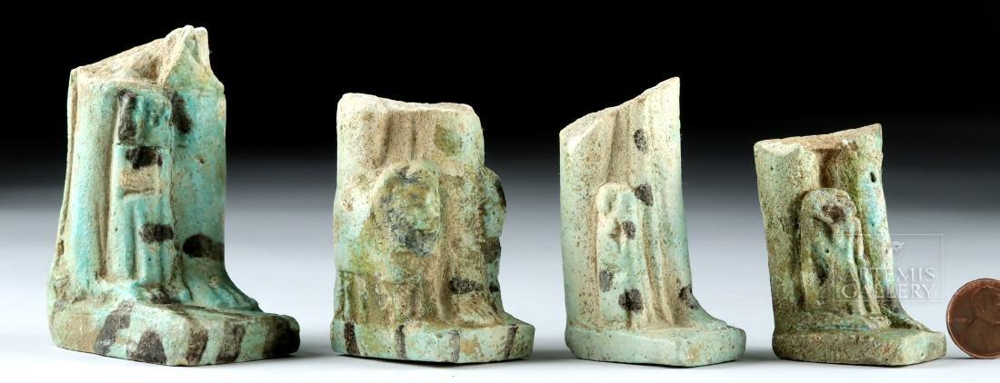 Lot of 4 Egyptian Faience Ushabti Fragments