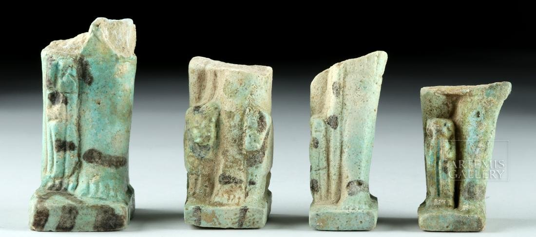 Lot of 4 Egyptian Faience Ushabti Fragments - 2