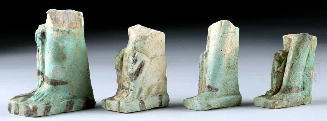 Lot of 4 Egyptian Faience Ushabti Fragments - 3