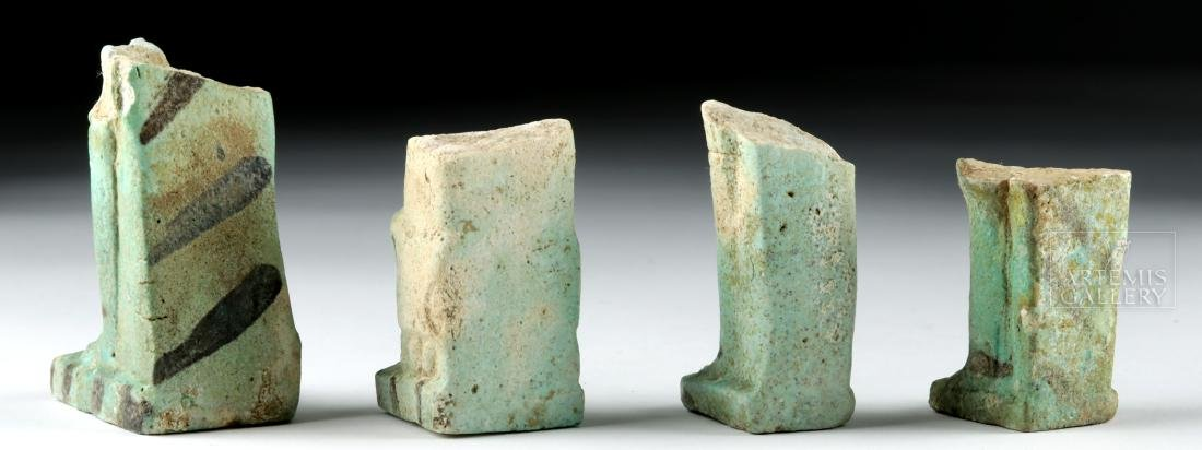 Lot of 4 Egyptian Faience Ushabti Fragments - 4