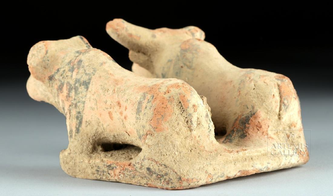 Indus Valley Pottery Platform with Zebu Bulls - 3