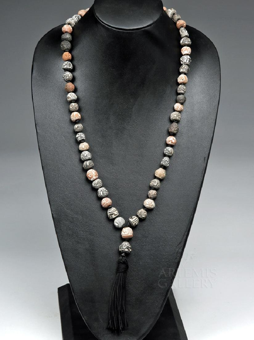 Ecuadorian Spindle Whorl Necklace w/ Tassel