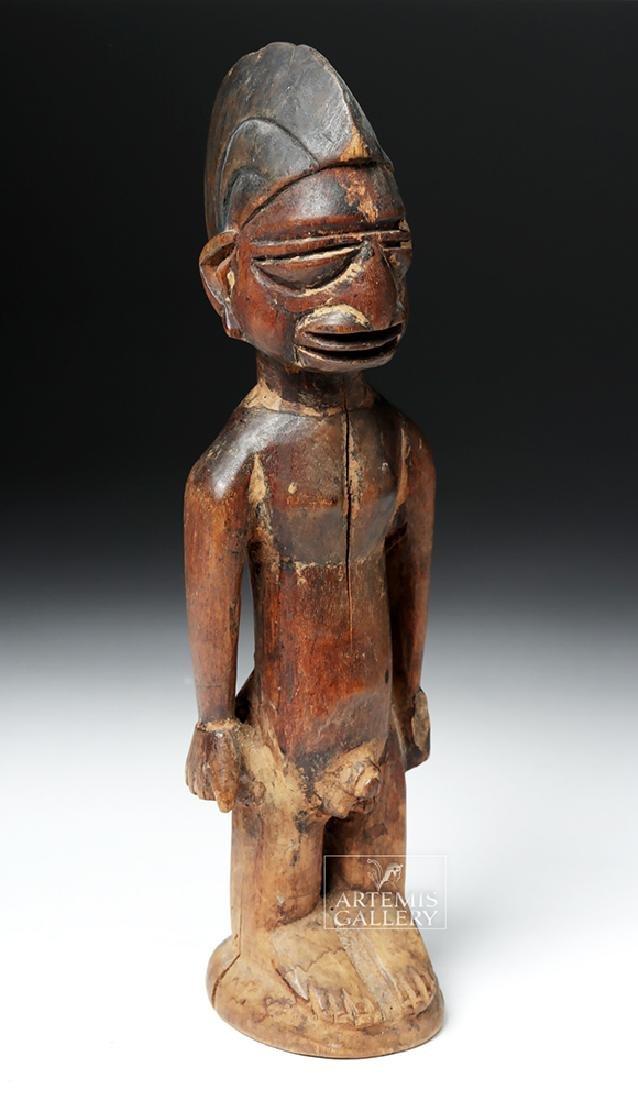 Early 20th C. Yoruban Ibeji Wooden Figure - 5