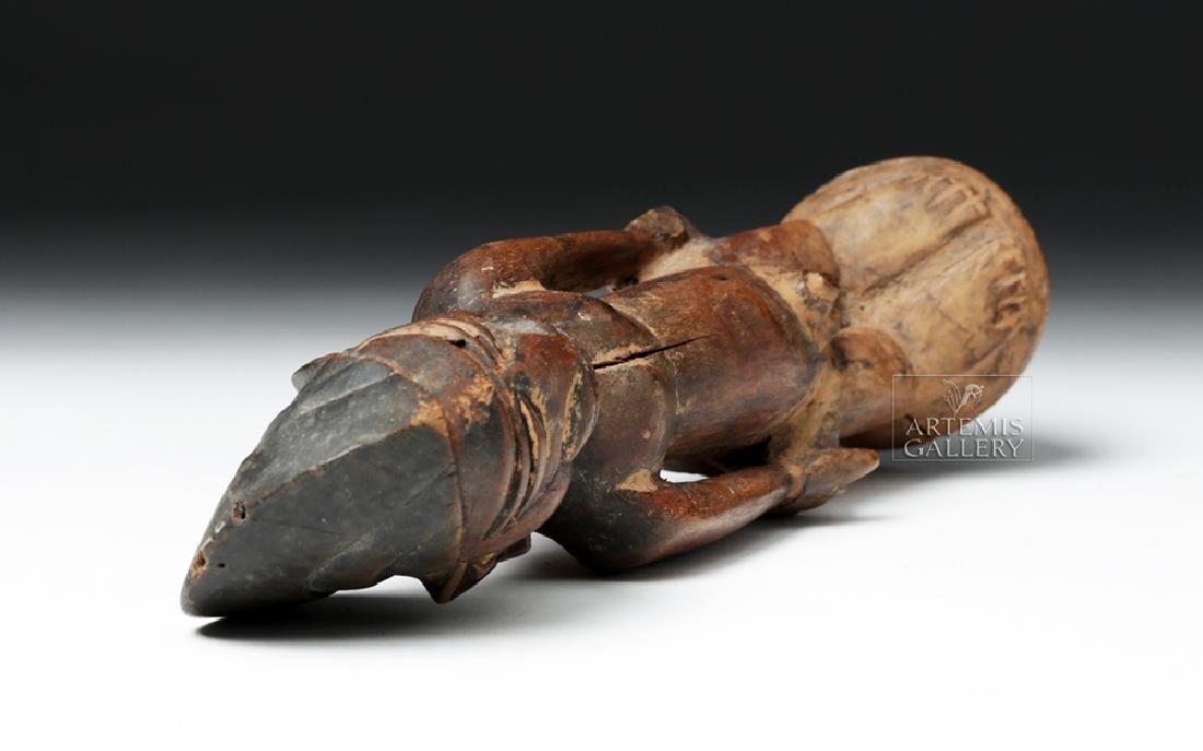 Early 20th C. Yoruban Ibeji Wooden Figure - 7