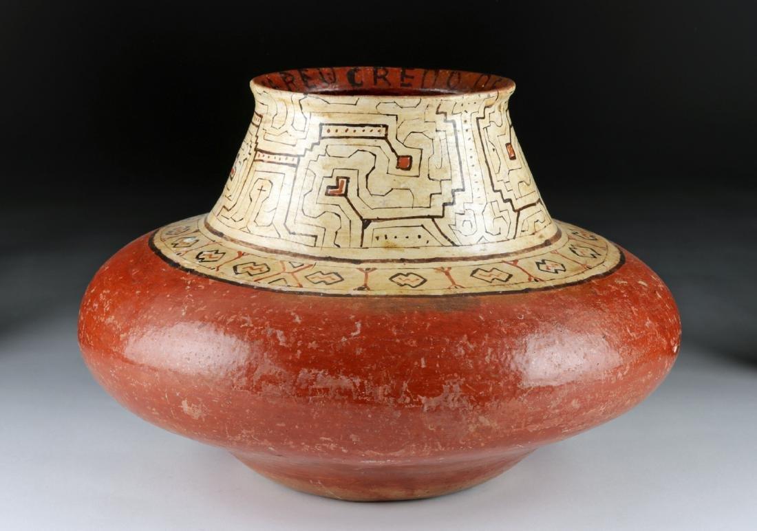 Early 20th C. Shipibo Polychrome Pottery Vessel