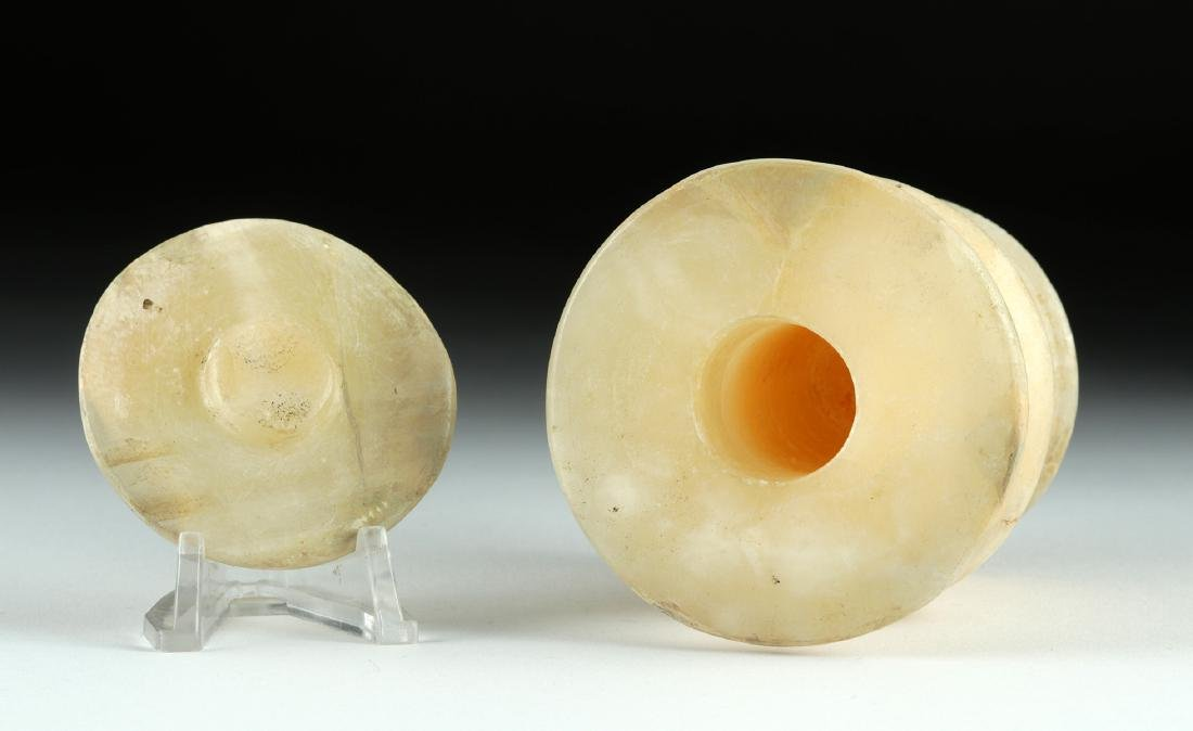 Beautiful Egyptian Alabaster Vessel with Lid - 5