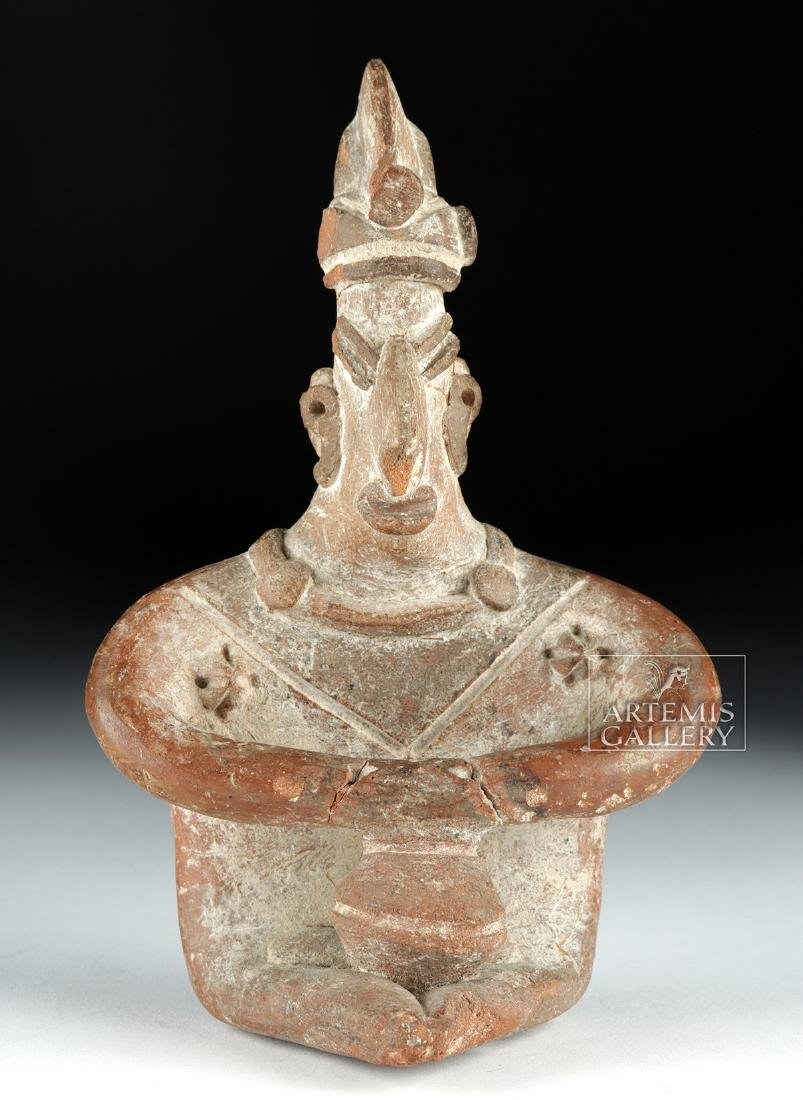 Colima Pottery Seated Figure w/ Bowl - 2