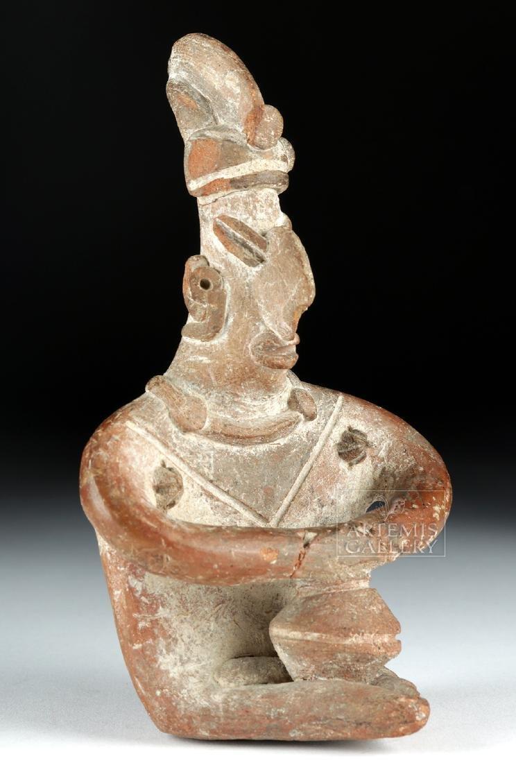 Colima Pottery Seated Figure w/ Bowl - 3