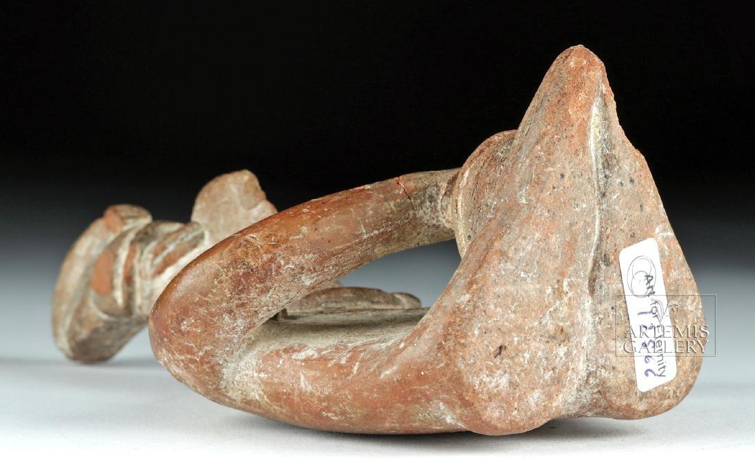 Colima Pottery Seated Figure w/ Bowl - 6