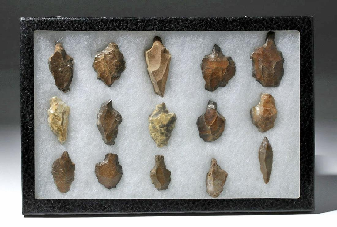 Collection of 15 North African Aterian Stone Tools
