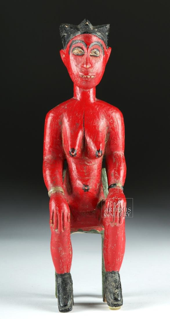 Mid-20th C. African Baule Wood Blolo Bla Figure - 2