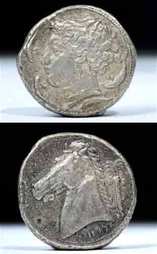 Sicily Siculo-Punic 320 to 300 BCE AR tetradrachm