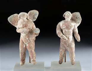 Adorable Greek Canosan Polychrome Cherub Figures