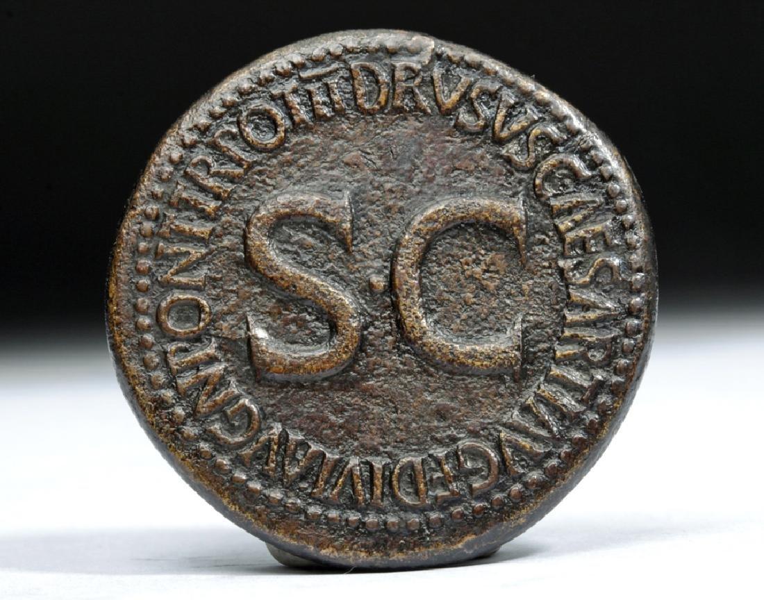 Rare Roman Empire AE Bronze Sestertius - Germanicus - 2