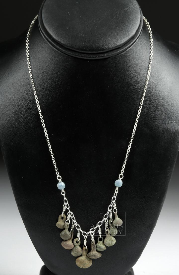 Viking Bronze Button Cluster Necklace