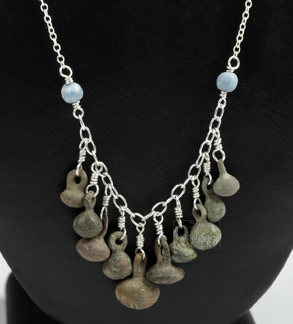 Viking Bronze Button Cluster Necklace - 2