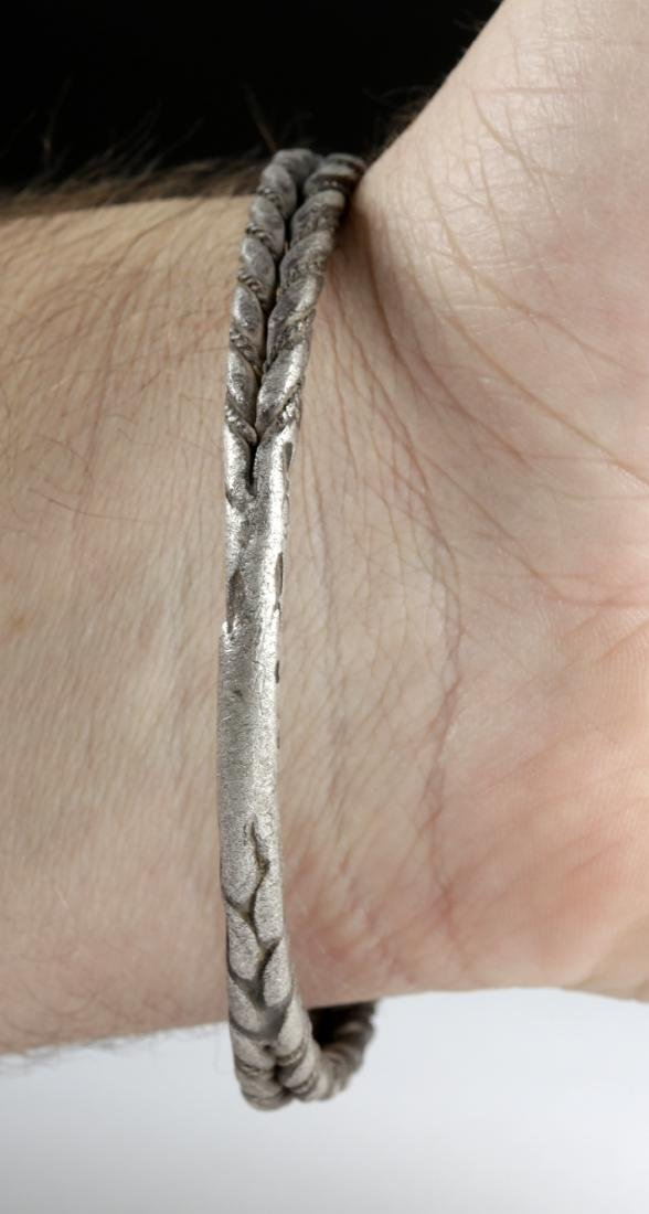 Viking Silver Twisted Double Wire Bracelet, 49.4 g - 2