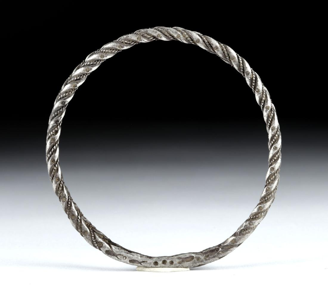 Viking Silver Twisted Double Wire Bracelet, 49.4 g - 3