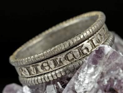 Medieval European Silver Engraved Ring - Magi - 10 g