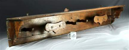 18th C. Spanish Colonial Wooden Shelf / Iron Nails