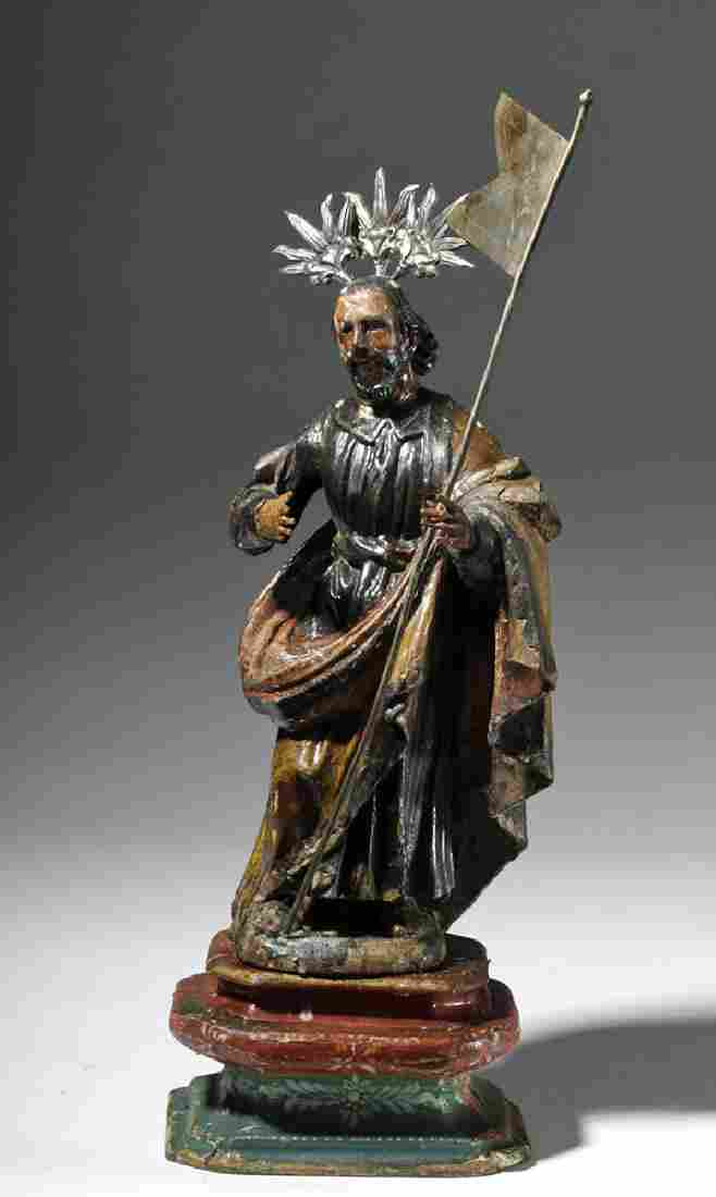 19th C. Mexican Wood Santo - Christ Enrobed