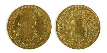 18th C. Mexican Gold Escudo - 3.2 g