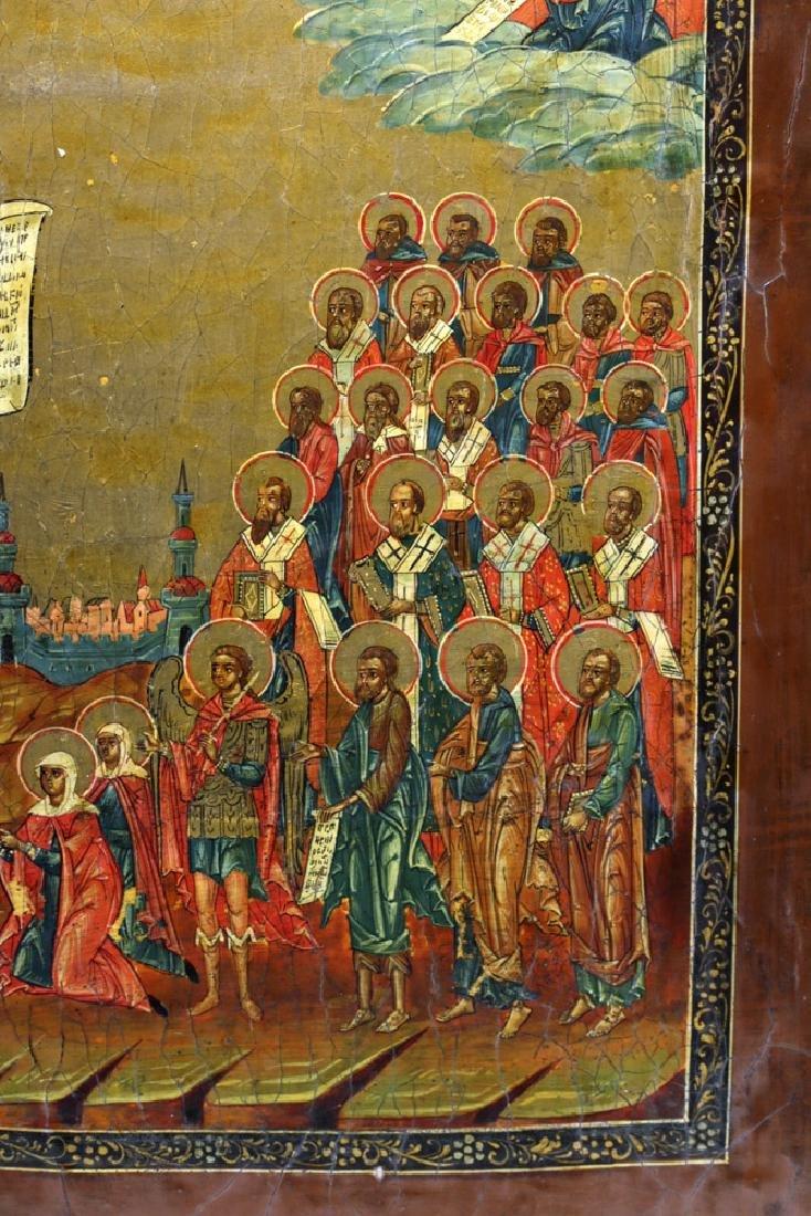 19th C. Russian Icon - Virgin of Intercession - 4