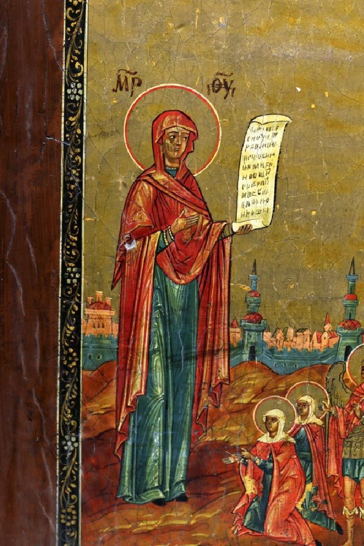 19th C. Russian Icon - Virgin of Intercession - 6