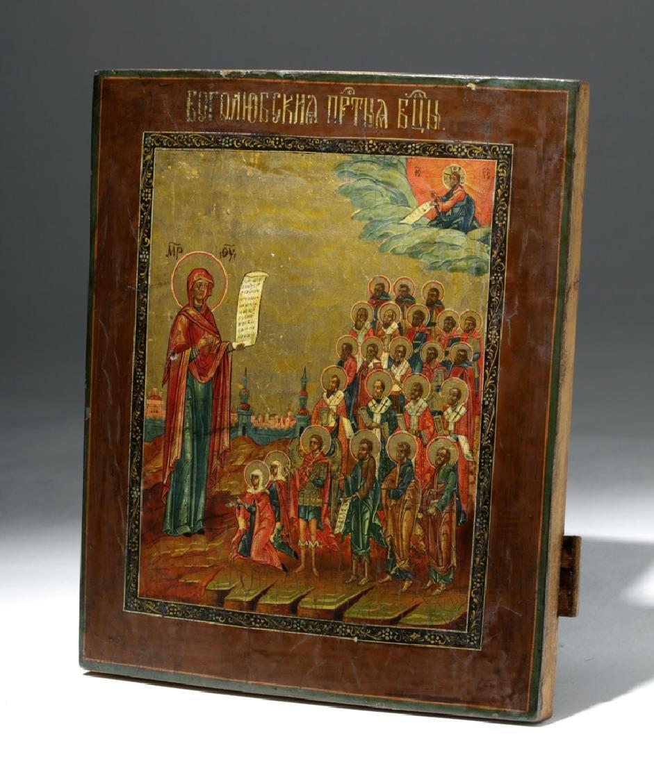 19th C. Russian Icon - Virgin of Intercession - 7